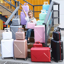 Luggage-Set Travel-Suitcase Cosmetic-Bag Abs Trolley Business KLQDZMS 28inch with 20--Young-People