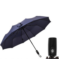 High Quality Big wind Resistant Rain Umbrella Full Automatic Black Coating Luxury Wide Windproof Business Men Umbrella business