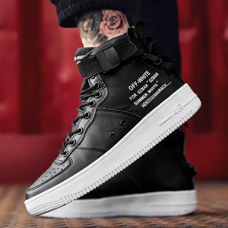 2019 fashion mens casual shoes canvas lace up breathable high quality sneakers for Lovers high tops shoes sneakers men