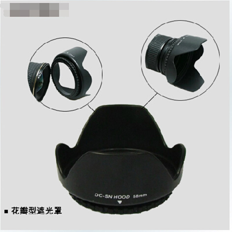 55mm Flower camera <font><b>Lens</b></font> Hood for <font><b>Sony</b></font> HX300 A330 A350 A290 A550 DT <font><b>18</b></font>-55mm 35mm f/1.8 55-<font><b>200mm</b></font> <font><b>18</b></font>-70mm image