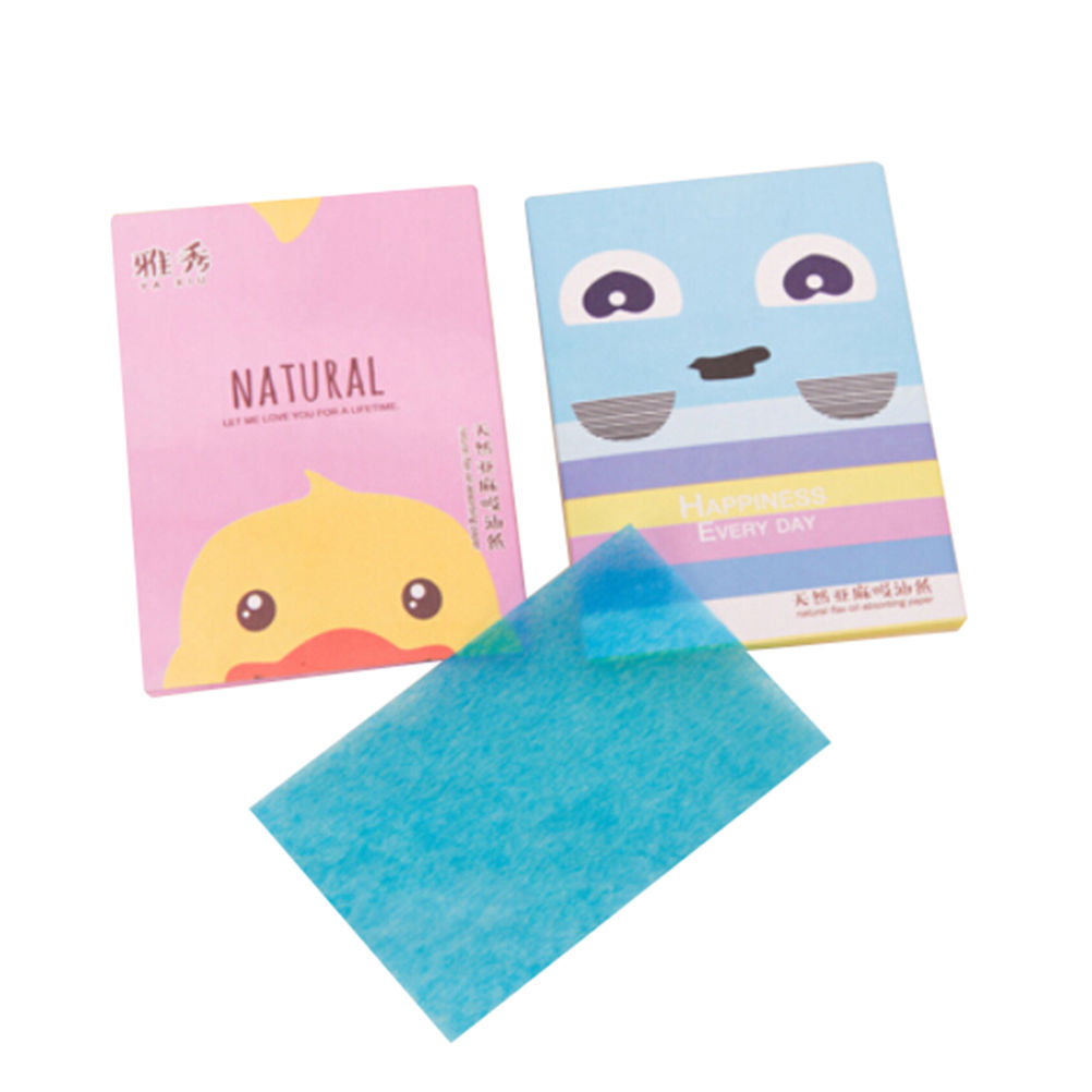 50 Sheets/Pack Random Pattern Send Make Up Oil Absorbing Blotting Facial Face Clean Paper Beauty Tools spc snail secretion face mask value pack 50 sheets
