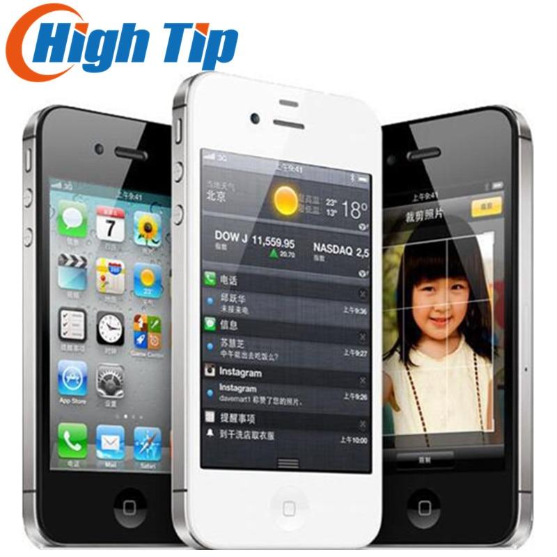 """Фабрика разблокирована оригинальный Apple iphone 4S 8 ГБ 16 ГБ 32 ГБ 64 ГБ мобильный телефон двухъядерный Wi-Fi gps 8.0MP бывший в употреблении телефон на iOS """"сенсорный экран 3,5"""
