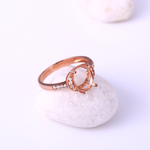 Solid 14k Rose Gold Engagement Wedding Diamond Ring 7.5×9.5mm Oval Semi Mount Jewelry Setting