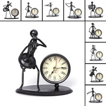 Iron Table Desk Alarm Clock With Musical Instrument Gadget Decoration Craft Gift
