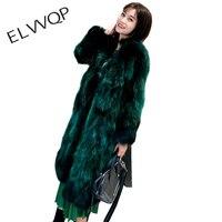 High Quality Fur Coat Women Warm Long Sleeve Female Furry Outerwear Autumn Winter Long Coat Jacket Hairy Overcoat LF743
