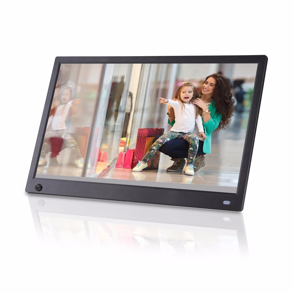 Novo design de 15.6 polegada IPS sensor de Movimento ângulo de visão Completa 1920X1080 Suporte de entrada de HD imagem player de vídeo digital photo frame