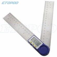 """0-200 мм """" цифровой измеритель угол уклономер, угловой цифровой Линейка электронный Гониометр угломер измерительный инструмент"""
