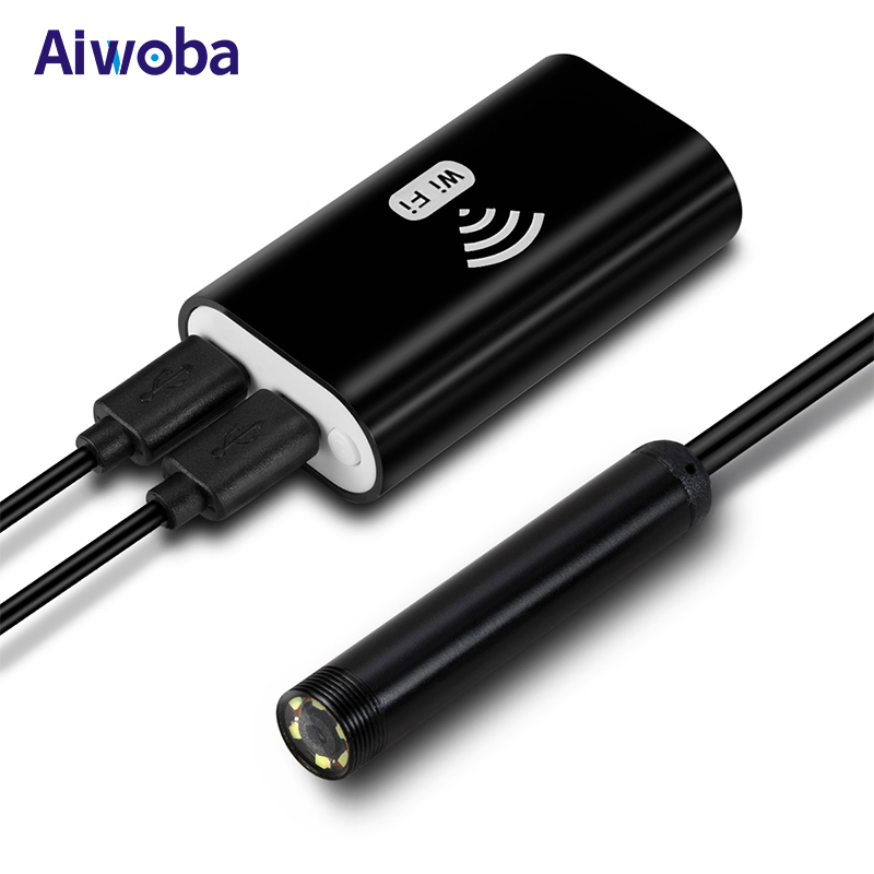 aiwoba mini 8mm wifi endoscope camera 1m 2m 5m. Black Bedroom Furniture Sets. Home Design Ideas