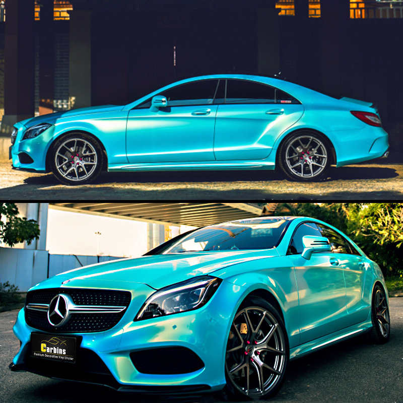 Car Paint Colors >> Us 450 0 Coral Briliant Light Blue Car Wrapping Film Macaron Color Sticker For Benz Truck Paint Decal On Aliexpress