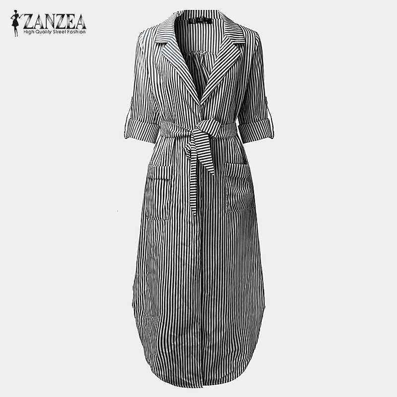 7efc67c8f9402 Detail Feedback Questions about Women Elegant Vertical Striped Long ...