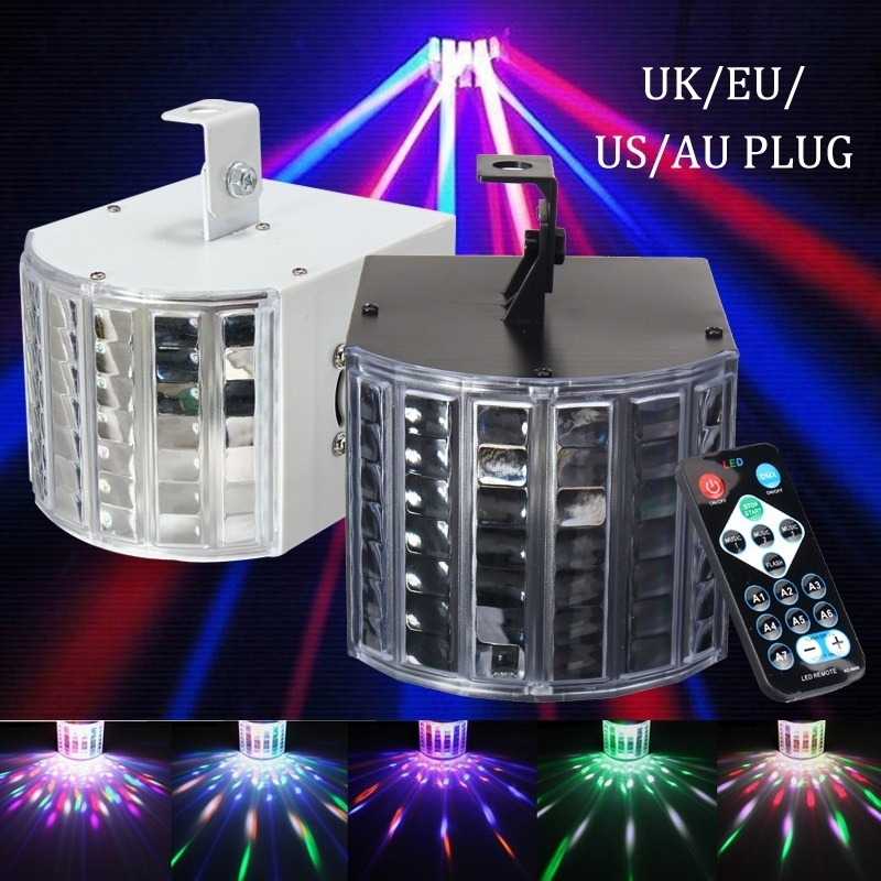 Sound Active DMX Stage Light with Remote Control, RGBW LED Beams Laser Light Effect Lamp Club Disco Party Bar DJ Lights Lighting