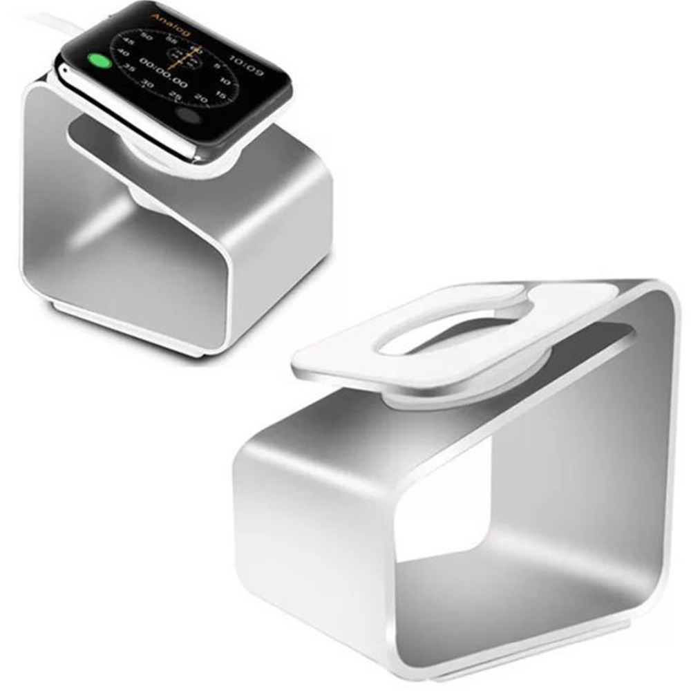 Charging Stand For Apple Watch 4/3/2/1 44/42/40/38mm Portable Charger Holder for iWatch Dock Station stand Aluminum Alloy Mount mini portable magnetic wireless charger for apple watch iwatch 1 2 3 quick charge fast charging dock station power bank chargers