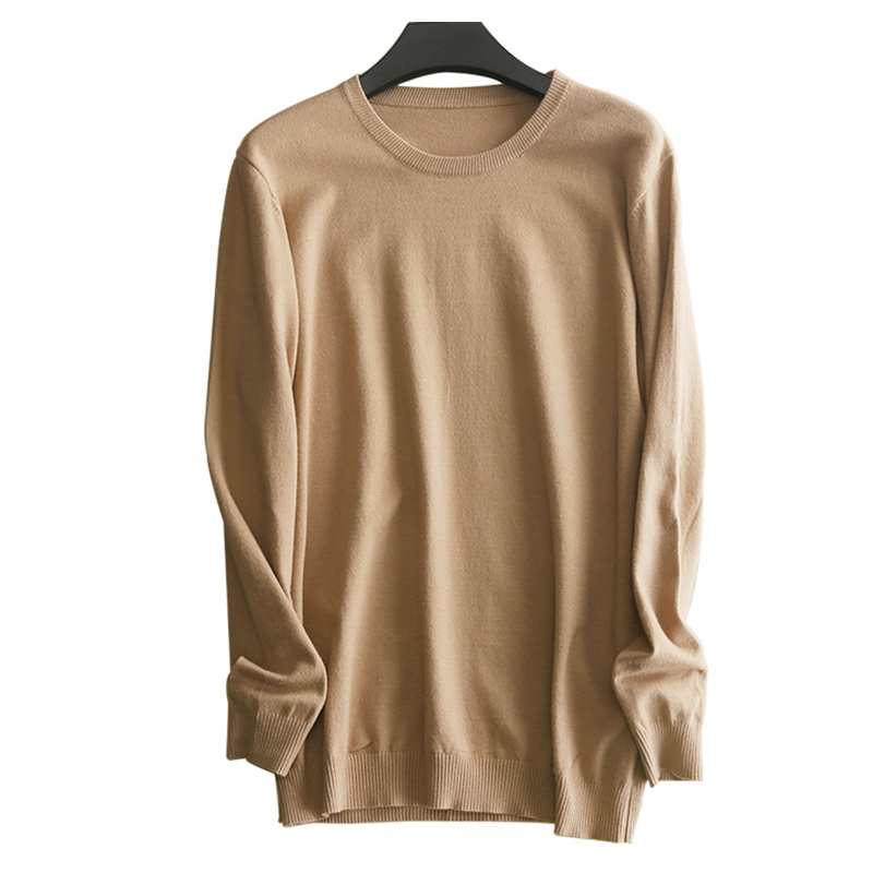Knitted Pullover Men Business Wool Sweater 2019 New Autumn Winter Men?s Solid Color Casual Round Collar Sweaters Cotton Jumper