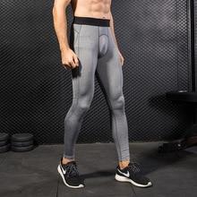 New Men Fitness Leggings Hombre Fitness Trousers Sweatpants Sport Tights Running Pants Compression Bodybuilding GYM Pantalones недорого