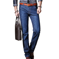 2017 Autumn Winter New Business Men S Jeans Slim Straight Denim Full Length Brief Men S
