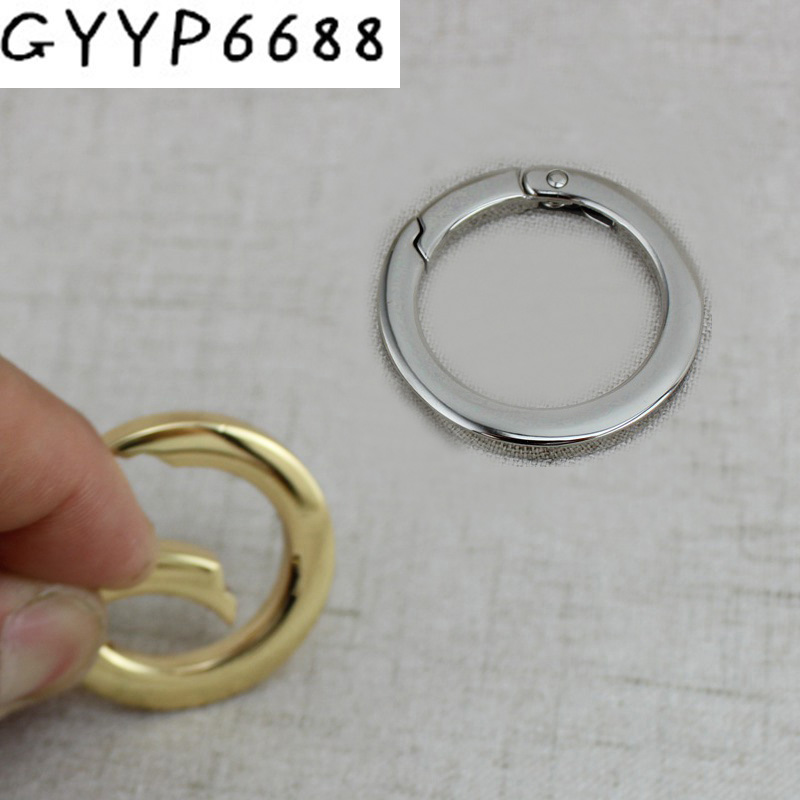 10pcs 50pcs Square Edge Spring Ring Hardware Accessories Banding Chain O Ring Openable Rings Keys Charms Clasps Connection