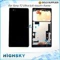 Black white display para sony xperia t2 ultra xm50h d5303 d5306 d5322 tela lcd + digitador touch + quadro 1 peça frete grátis