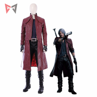MMGG Halloween game Devil May Cry 5 cosplay Dante cosplay Costume long leather jacket boots custom made size set High Quality