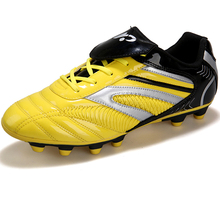 Men Soccer Shoes Long Spikes Turf Cleats Leather Outdoor Male Trainers Shoes Sneakers Zapatos Men Sport Shoes Footwear Foot Ball