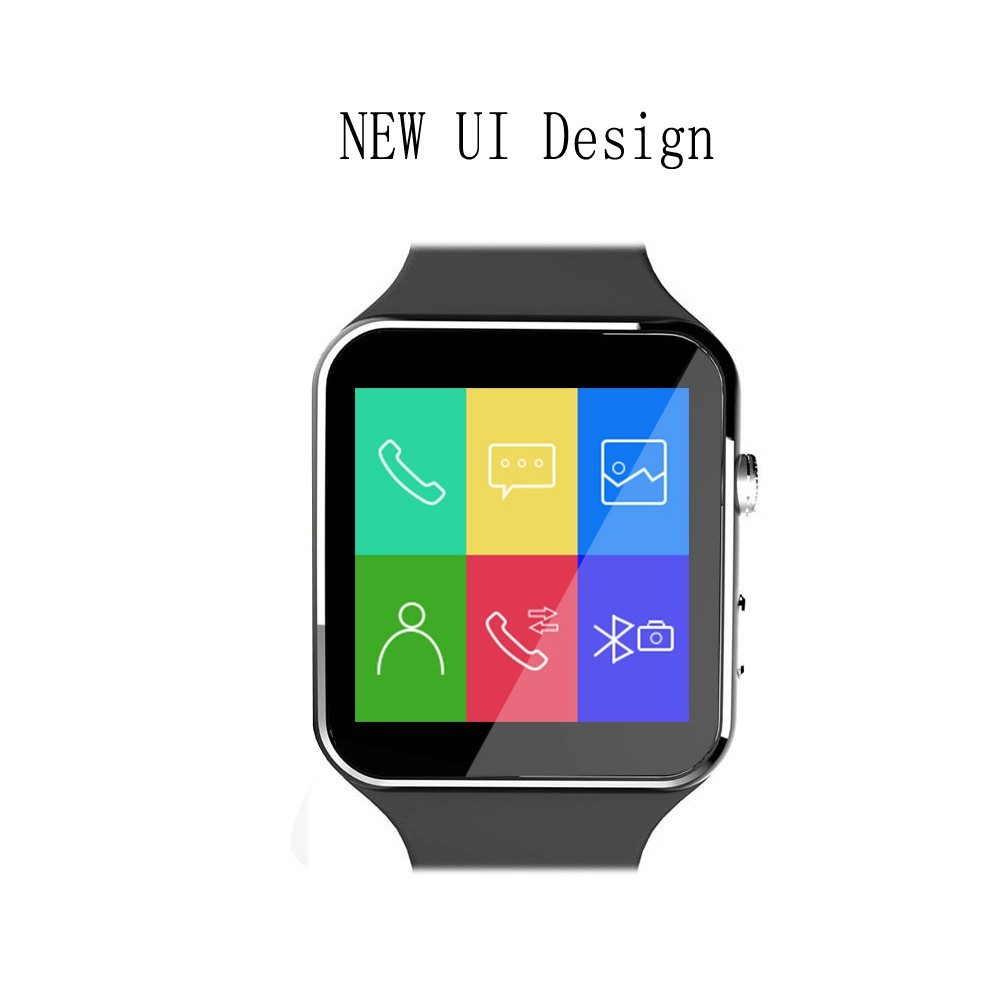 Smart watch touch screen X6 compatible with SIM card TF for IPhone Xiaomi Android IOS UI