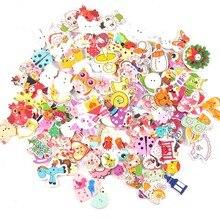 Деревянные декоративные пуговицы для пришивания одежды, скрапбукинга, рукоделия, домашний декор, 30 шт., 15-35 мм, MT1892