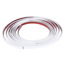 3m Silver Car Grille Exterior Chrome Styling Decoration Moulding Trim Strip 10mm