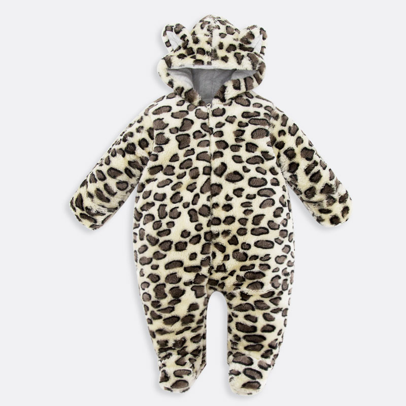 Baby Clothes Newborn baby boys girls clothes leopard print Romper Jumpsuit Long Sleeve Infant Product Romper With Cap Hat Patter baby clothing summer infant newborn baby romper short sleeve girl boys jumpsuit new born baby clothes