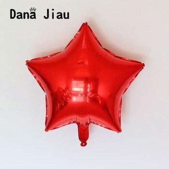 18 inç kırmızı renk Pentagram Şekilli Folyo Balon düğün Doğum Günü Partisi Dekorasyon Hava Balonlar Olay yıldız Balon