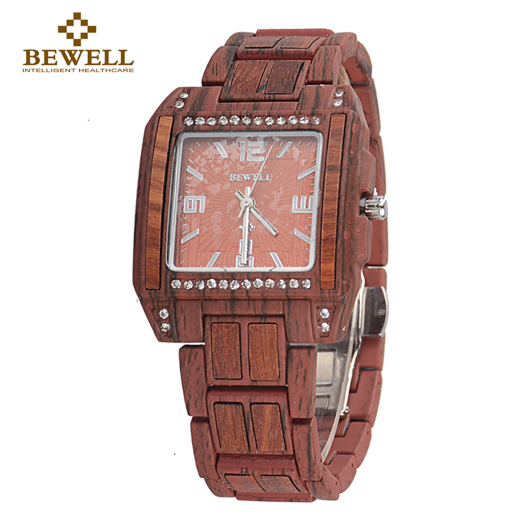 BEWELL Handmade Watches Wood Casual Alloy 1056A Heavyweight Special-Design Simple-Style