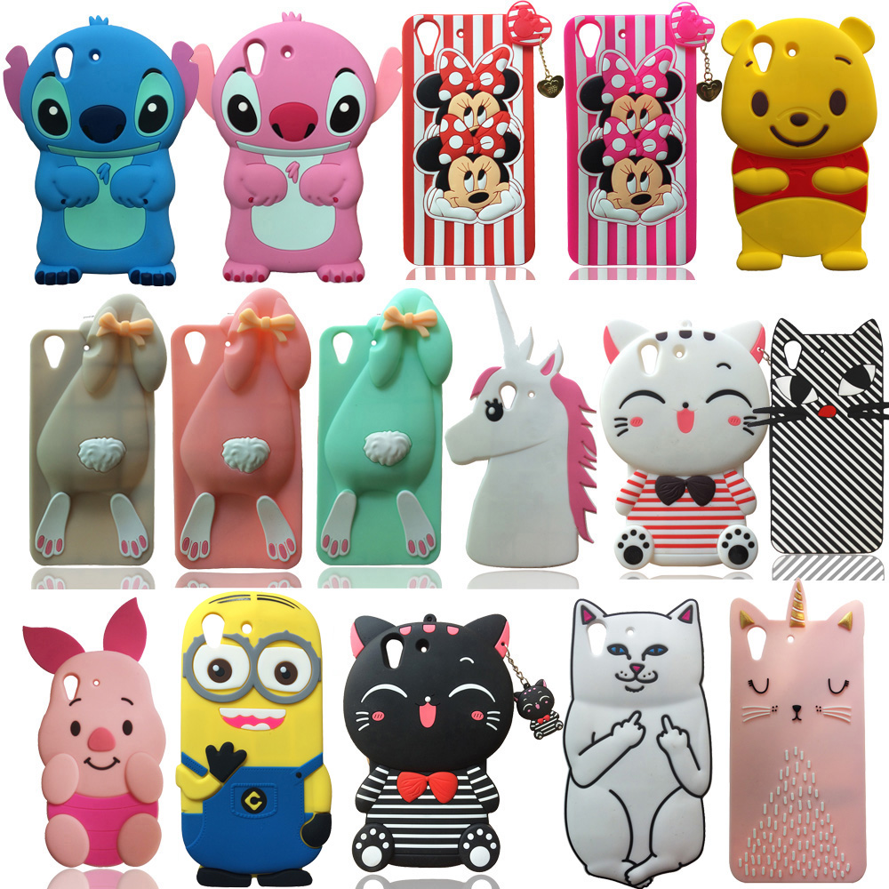 For Huawei Y6 II Y6 2 Y6 2 3D Cute Cartoon Soft Silicone Case Pretty Unicorn Phone Case Back Cover Skin Shell Fundas Capa in Fitted Cases from Cellphones Telecommunications