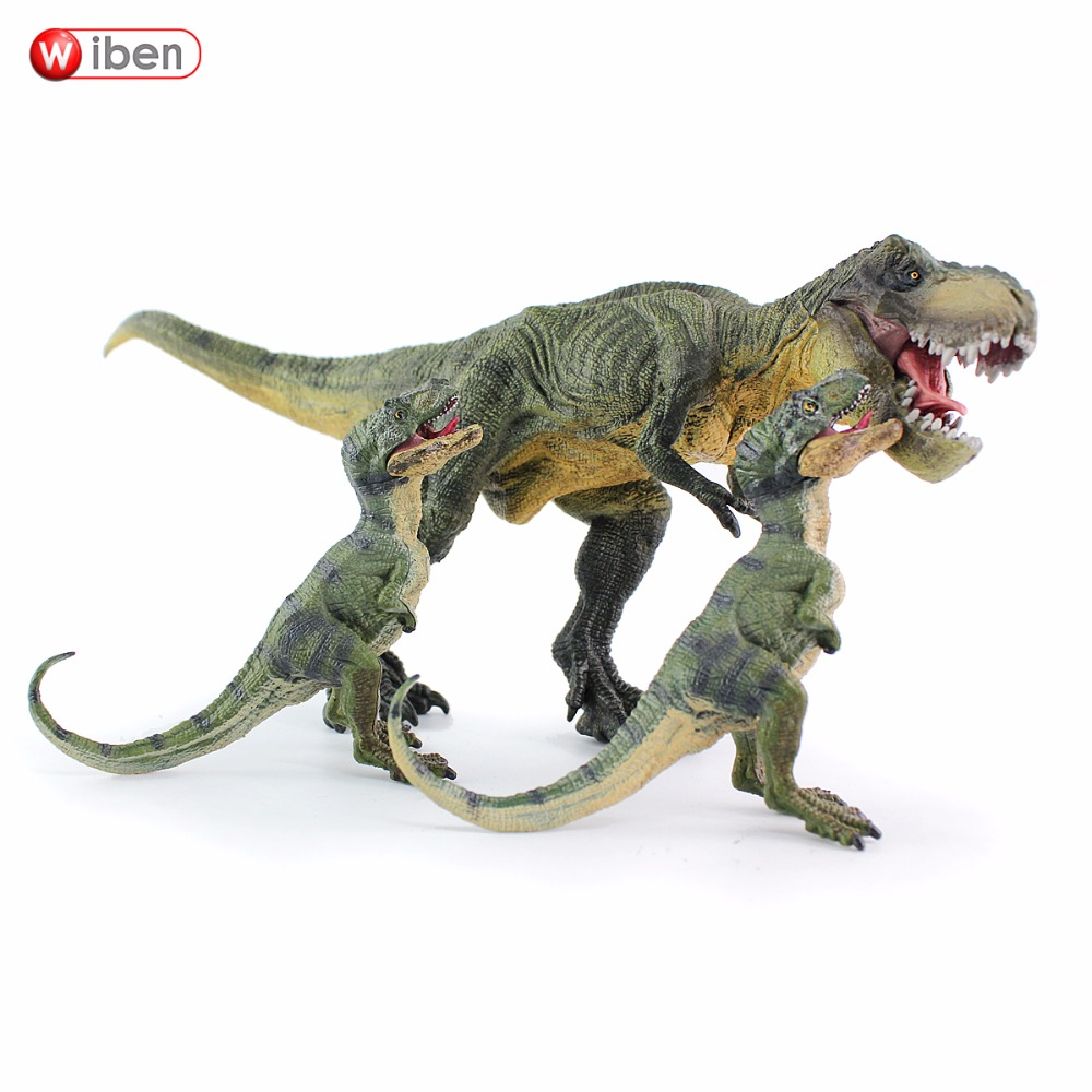 Wiben 3pcs/lot Jurassic Tyrannosaurus Rex T-Rex Dinosaur Toys Animal Model Collection Learning & Educational Kids Gift wiben jurassic pterosauria dinosaur toys action