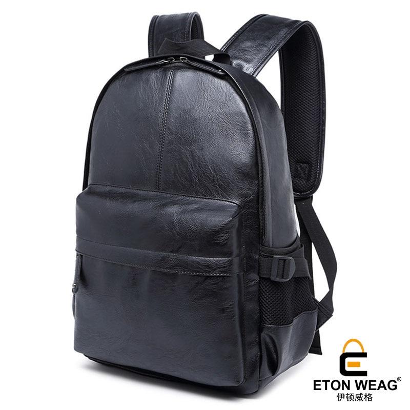 ETONWEAG Brands Italian Leather Backpacks For Teenage Girls Black Vintage School Bags For Teenagers Fashion Laptop Bag BagPack etonweag brand cow leather backpacks for teenage girls school bags for teenagers black fashion drawstring bag vintage laptop bag