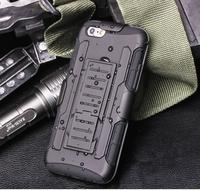 Multifunction Cool Black Armor Mobile Cases For Apple IPhone 4 4S 5 5S 6 6S 6Plus