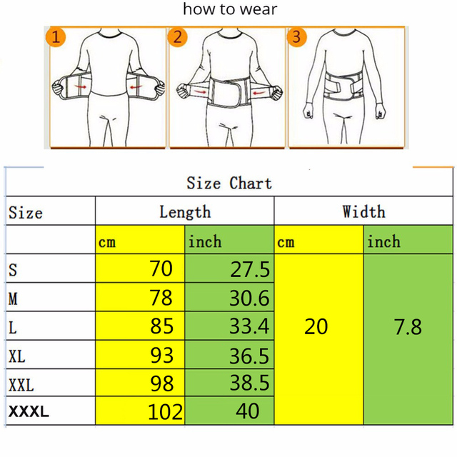 Firm Waist support belt Sweat Belt Plus Size S-3XL Slimming Women waist support unisex back support Fitness waist trimmer 5