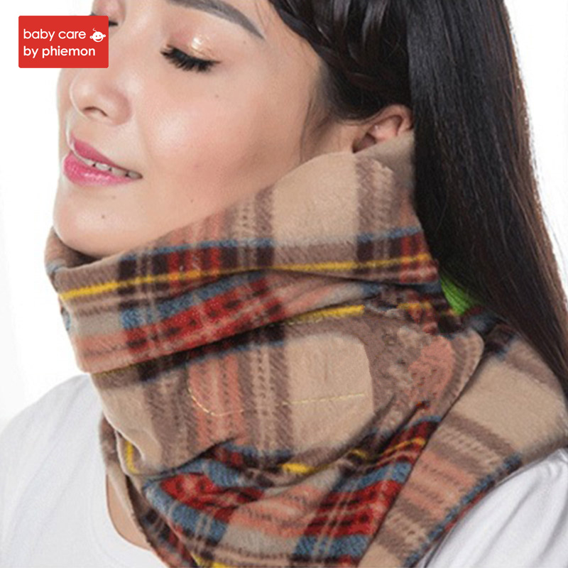 Comfortable Scarf Travel Pillow Neck Cushion font b Portable b font Neck Head Support Rest Nap