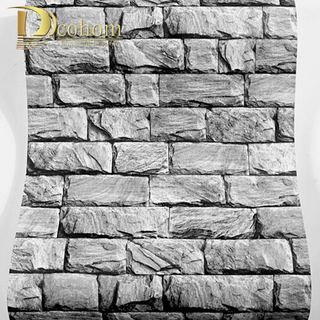Marble Textured 60D Brick Wallpaper For Walls Vintage Brick Stone Fascinating Brick Pattern Paper