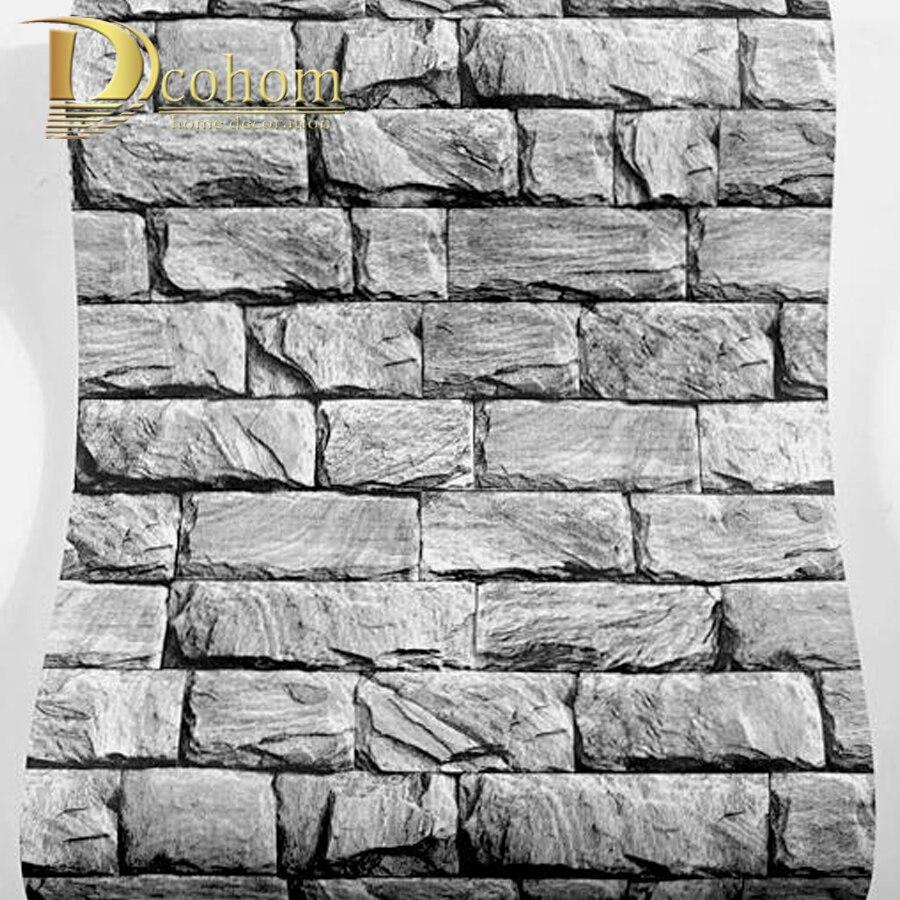 marmor strukturierte 3d ziegel tapete fr wnde vintage ziegel stein muster papier wand papierrollen fr wohnzimmer schlafzimmer dekor - Stein Muster Tapete