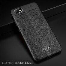 WeeYRN Full Case Funda Xiaomi Redmi 6A 6 Pro 6 Lichi Pattern Case Luxury Soft Leather Silicone TPU Cover Xiaomi Redmi 6 Pro 6A