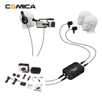 COMICA CVM D03 Dual head Lavalier removeable multifunctiona Microphone for Smartphone action DSLR camera Interview Youtube