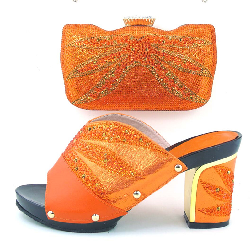 ФОТО New Arrival Italian Design Women Shoes And Bag Set African High Heel Shoes And Bag Set For Party Dress Size 38-43  MDL1-23