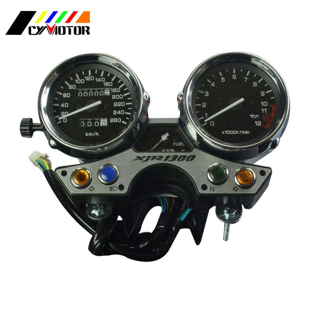 Motorcycle Gauges Cluster Speedometer Odometer Tachometer For YAMAHA XJR1300 XJR 1300 1989 1990 1991 92 93 94 95 96 97 цены онлайн