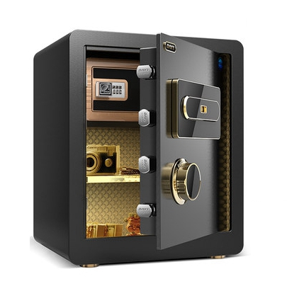 Casa Strongarmer casa sicura chiusura a codice di impronte digitali di archiviazione elettronica armadi in acciaio pieno muro di corrente domestica cassaforte 38x45x31 centimetri
