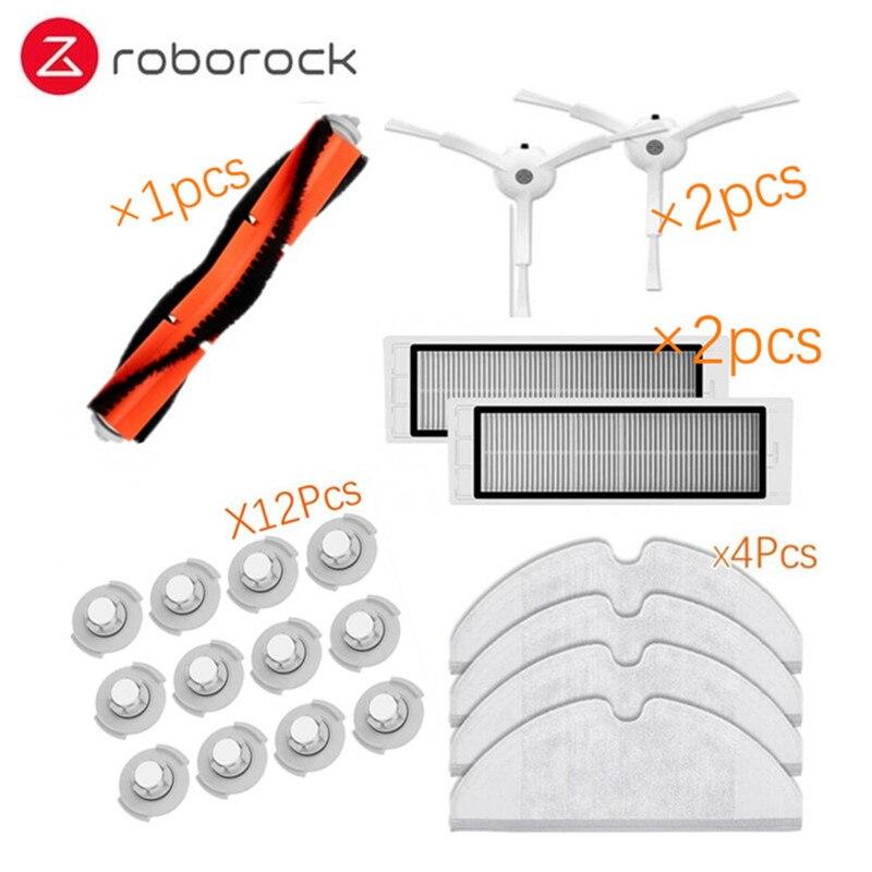Adecuado para Xiaomi Roborock Robot S50 S51 aspirador repuestos Kits Mop paños mojado Mopping filtro lado cepillo rollo cepillo