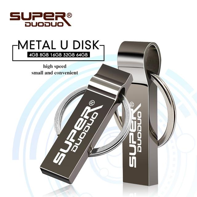 Chất lượng cao Phím mini USB Flash 16 GB 32 GB 64 GB Pendrive 128 GB CLE USB 4 GB 8 GB bút Móc KHóa Đèn Led USB cho máy tính