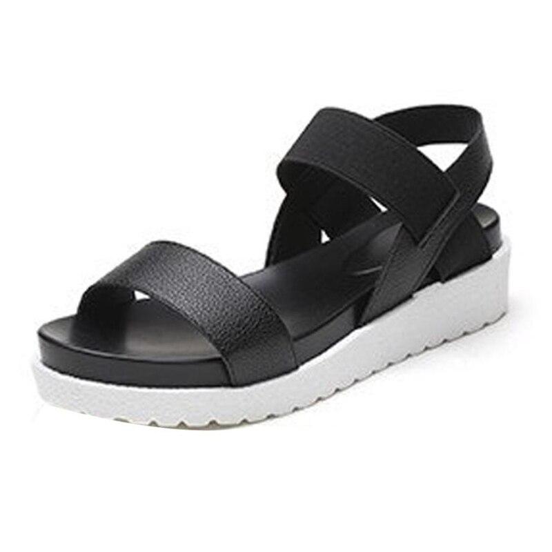 Shoes Woman Women's Summer Sandals Shoes Peep-toe Low Shoes Roman Sandals Ladies Flip Flops  Sandalia Feminina Fashion  O0507#30