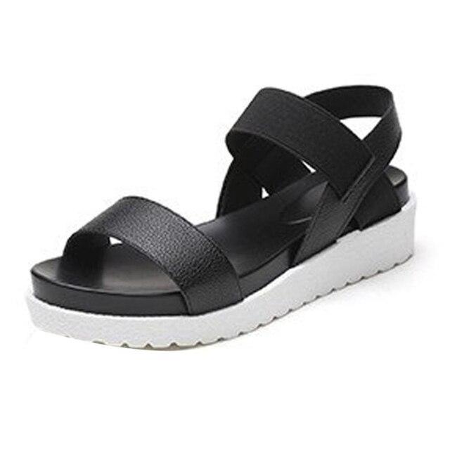 Ayakkabı kadın kadın Yaz Sandalet Ayakkabı Peep-toe Düşük Ayakkabı roma sandalet Bayanlar Flip Flop sandalia feminina moda O0507 #30