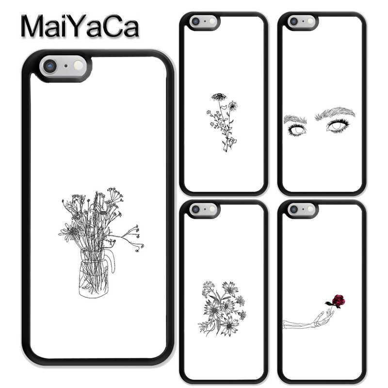 super popular c107b f3142 MaiYaCa Black White Outline Aesthetics Rubber Phone Case For iPhone ...