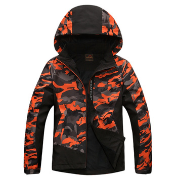 New spring lovers assault clothes soft shell camouflage wind and rain elastic outdoor mountaineering jacket