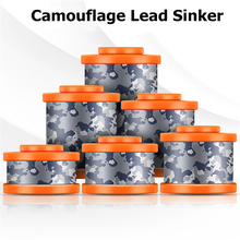 Sale 5Pcs Camouflage Lead Sinker fishing accessories carp fishing molds for lead Environmental protection coating sinker fish цена и фото