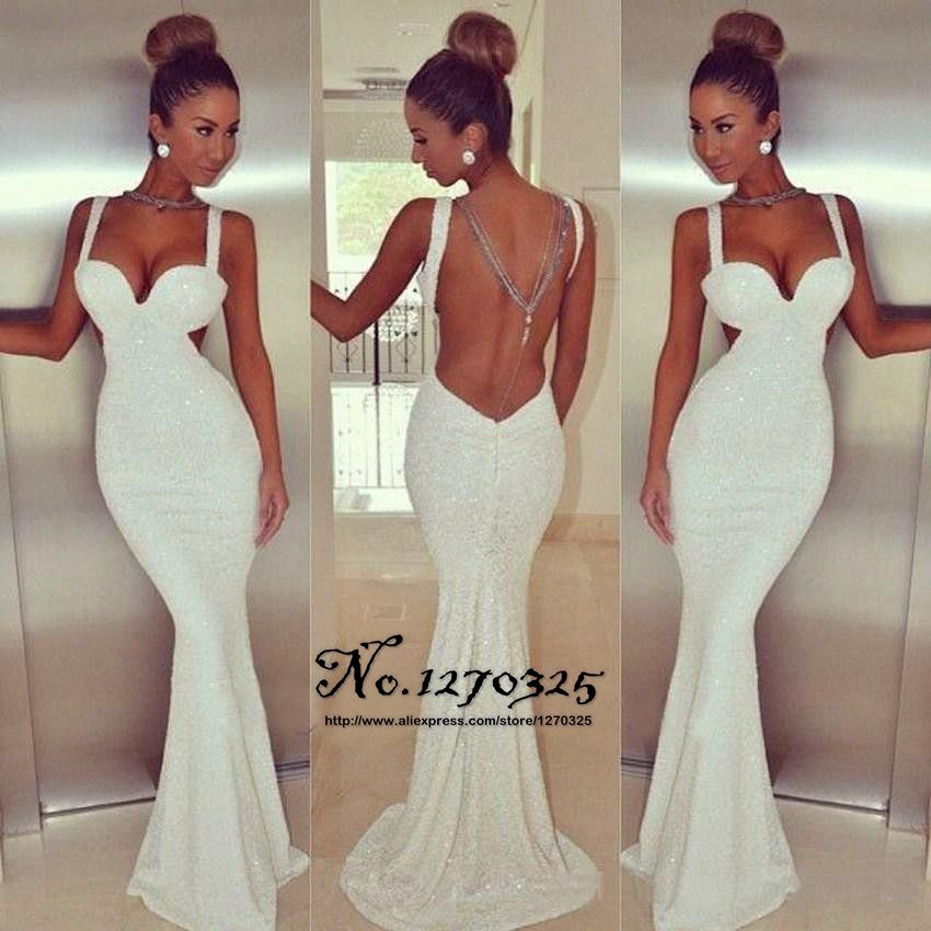 Popular White Fitted Mermaid Prom Dresses-Buy Cheap White Fitted ...